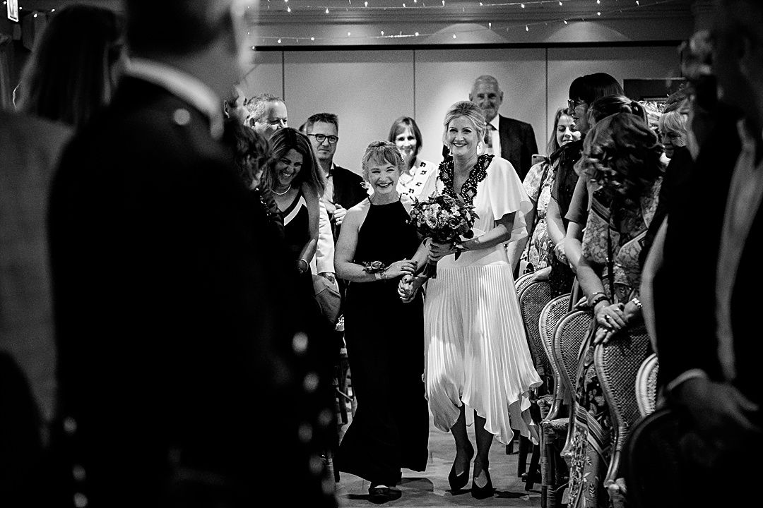 best wedding photography surrey 2019 bride arriving for the ceremony at the bingham rivervale